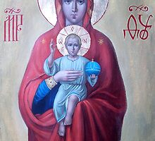Valaam icon of the Mother of God by Alla Melnichenko