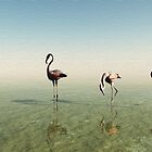 Flamingoes 2 by Leoni Mullett
