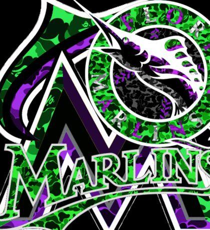 MARLINS BLACK Sticker