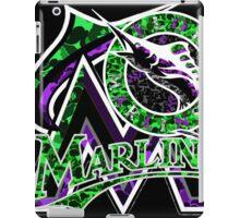 MARLINS BLACK iPad Case/Skin