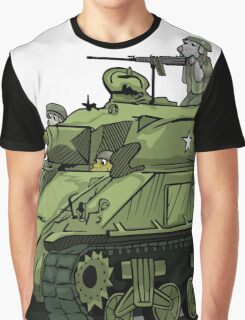 Dogs of War: Sherman Tank Graphic T-Shirt