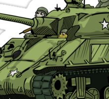 Dogs of War: Sherman Tank Sticker