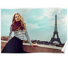 Brigitte Bardot in Paris Poster Poster
