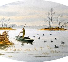 The Island Duck Blind by bill holkham
