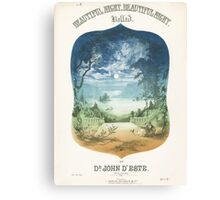 BEAUTIFUL NIGHT (vintage illustration) Canvas Print