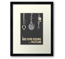 The rock, paper, scissors of the Wasteland Framed Print