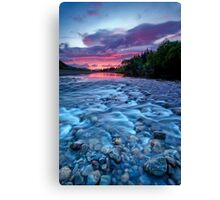 River run dawn Canvas Print