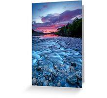 River run dawn Greeting Card