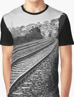 On the Right Track Graphic T-Shirt