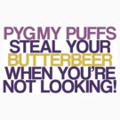 Pygmy Puffs Steal Your Butterbeer by jerasky