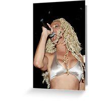 Rock Godess. Greeting Card
