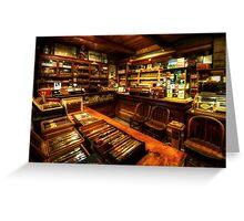 Cigar Shop Greeting Card