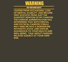 General fandom warning Womens Fitted T-Shirt
