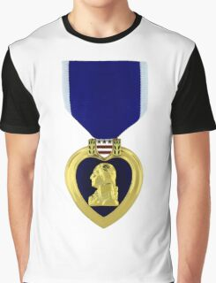 Purple Heart Medal Graphic T-Shirt