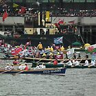 Rowing Flotilla Diamond Jubilee 2012 by mike  jordan.