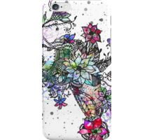 Trendy colorful watercolor hand painted floral iPhone Case/Skin