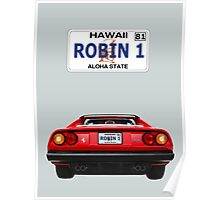 """Robin 1""  Magnum Hawaii Plate Poster"