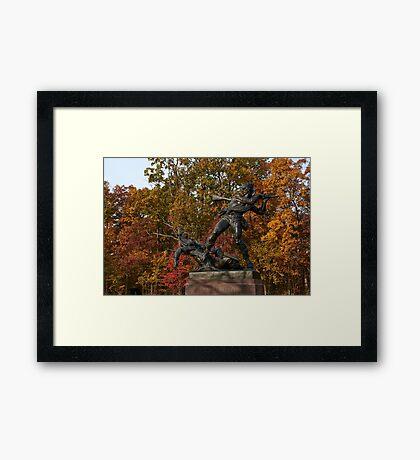 Gettysburg National Park - Mississippi Memorial Framed Print