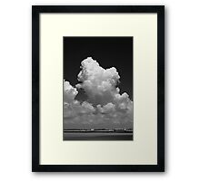 Cloud in monochrome Framed Print