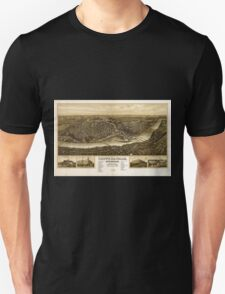 Panoramic Maps Chippewa-Falls Wisonsin sic county-seat of Chippewa County 1907 Unisex T-Shirt