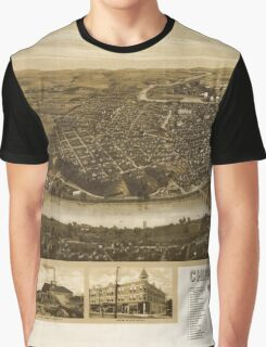 Panoramic Maps Chippewa-Falls Wisonsin sic county-seat of Chippewa County 1907 Graphic T-Shirt