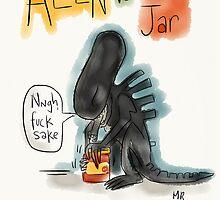 Alien Vs Jam Jar by twisteddoodles