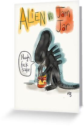 Alien Vs Jam Jar by twisteddoodles