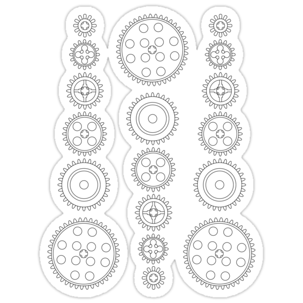 Cog Gear Wheels Pattern by Customize My Minifig by Chillee