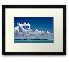 Cloudy Darwin Framed Print