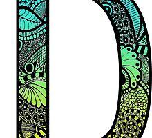 D Letter Doodle by trendysticks