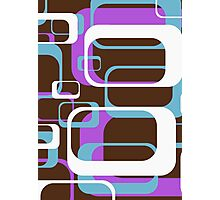 Retro 70's Wallpaper Pattern by Chillee Wilson Photographic Print