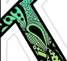 Kappa Letter Doodle Sticker
