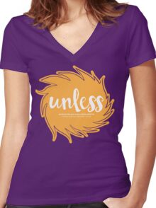 Unless Someone Like You - Orange Women's Fitted V-Neck T-Shirt