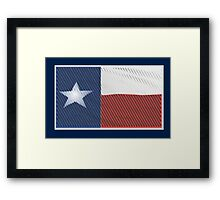 Texas Woodcut 1 Framed Print