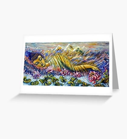 Golden Peace Greeting Card