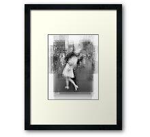Sailor Kissing Woman Framed Print