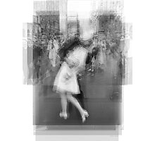 Sailor Kissing Woman Photographic Print