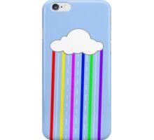 Cloud Rainbow colours rain iPhone Case/Skin