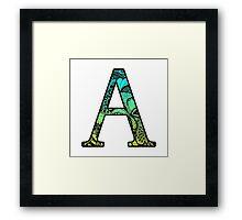 A Letter Doodle Framed Print