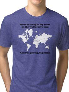 The Front Bottoms Maps  Tri-blend T-Shirt