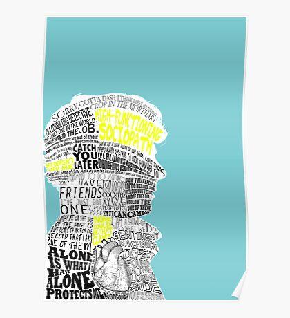 Sherlock Typography Art Poster