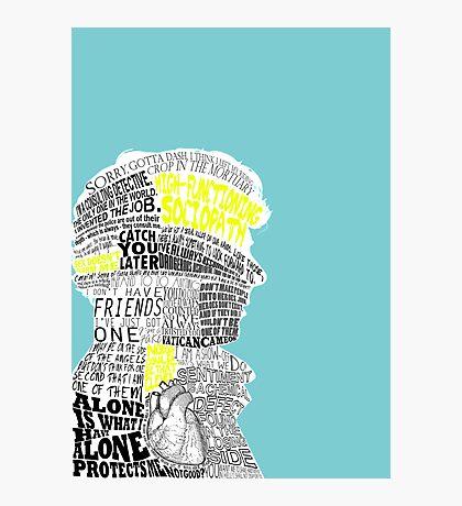 Sherlock Typography Art Photographic Print