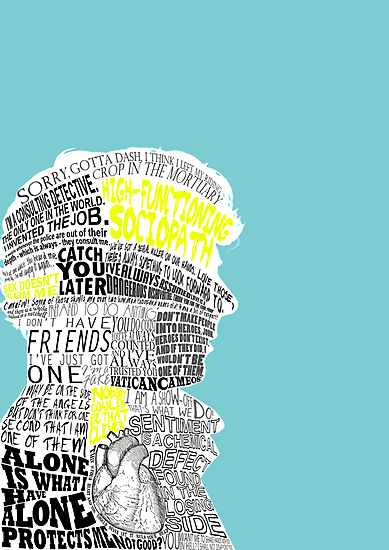 Sherlock Typography Art by andersaur