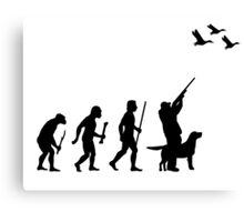 Funny Evolution of Duck Hunting  Canvas Print