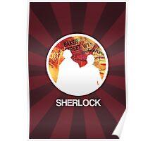 Sherlock Round Modern Poster Poster