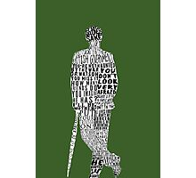 Mycroft Holmes Typography Art Photographic Print