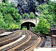 Harper's Ferry Tunnel  by Teresa Henry