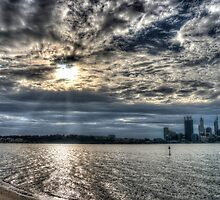 Swan river in late afternoon sun by BigAndRed