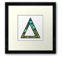 Delta Letter Doodle Framed Print