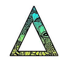 Delta Letter Doodle Photographic Print